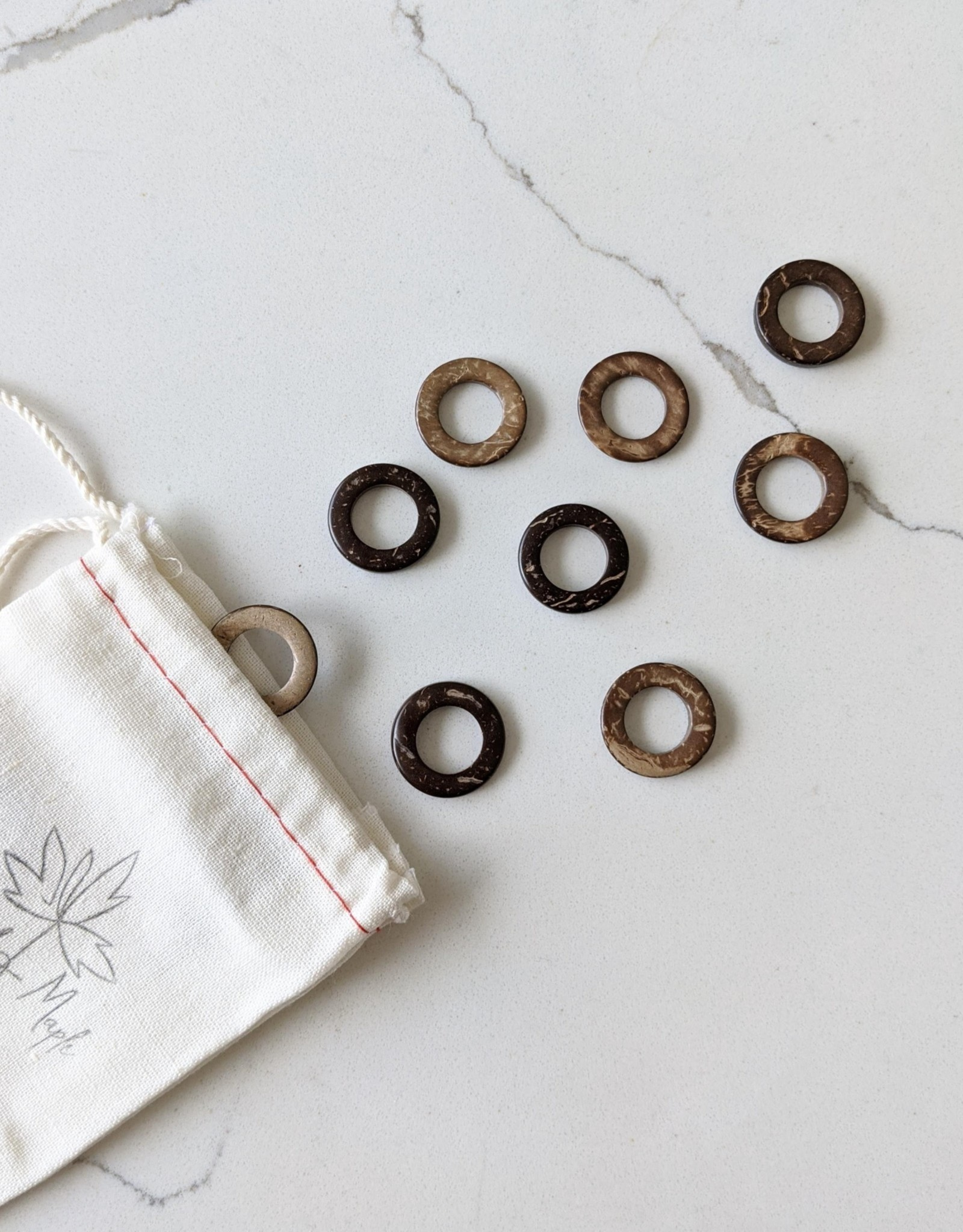 Thread and Maple Thread & Maple Coconut Jumbo Stitch Markers