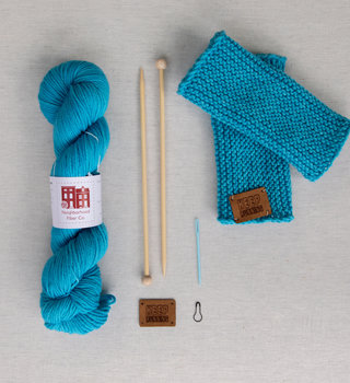 Neighborhood Fiber Co Pacers x fibre space Learn to Knit Kit