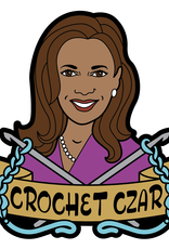 fibre space Crochet Czar VP Enamel Pin PREORDER