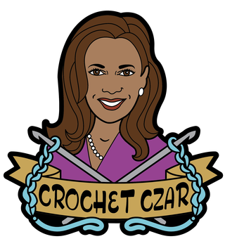 fibre space Crochet Czar VP Enamel Pin