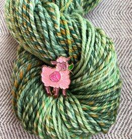Nerd Bird Makery Rose Sheep Pin