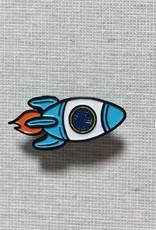 Shelli.can Shelli.can Rocket Ship Pin, Blue, White