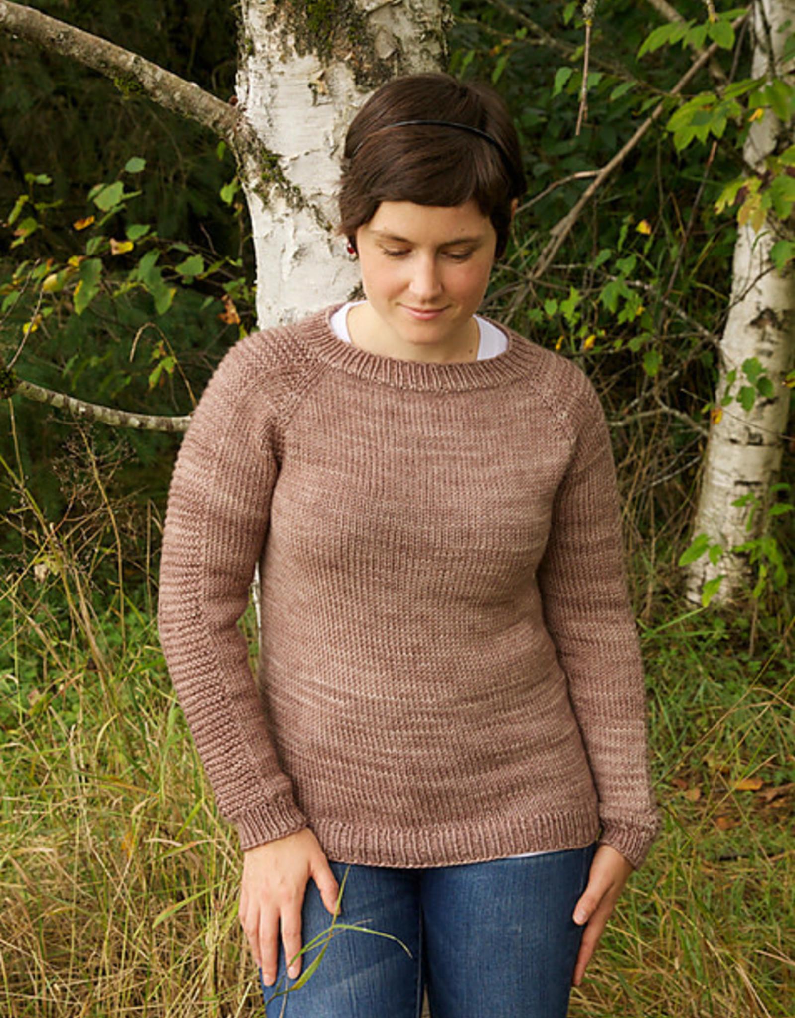 Top-Down Raglan Pullover (adult or baby): SU Oct 24, 31 & Nov 7, 2-4 pm