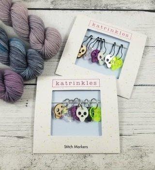 Katrinkles Katrinkles Stitch Marker Skull Stitch Marker Set