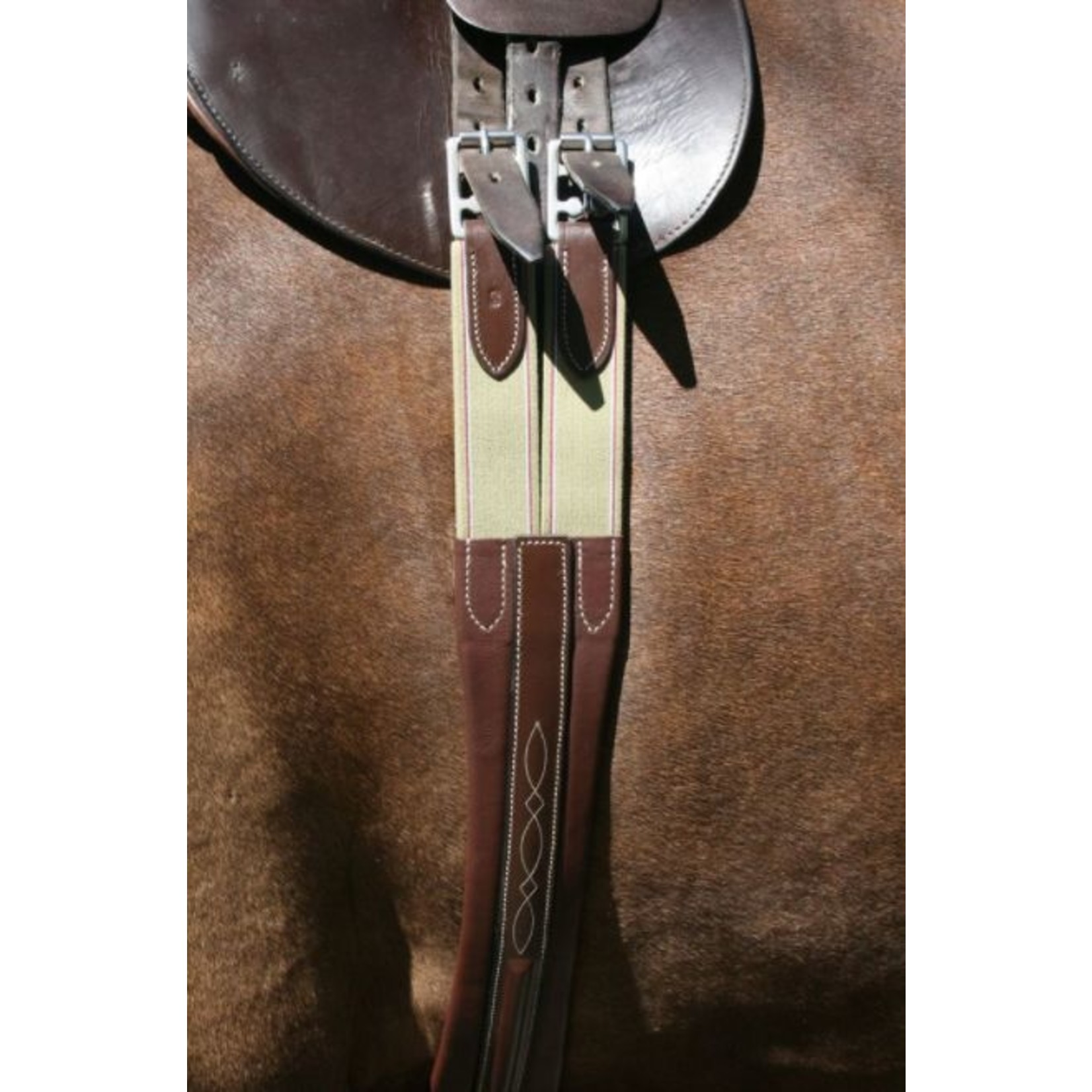 "Pinnacle Pinnacle Fancy Stitched Girth 48"" Chestnut"