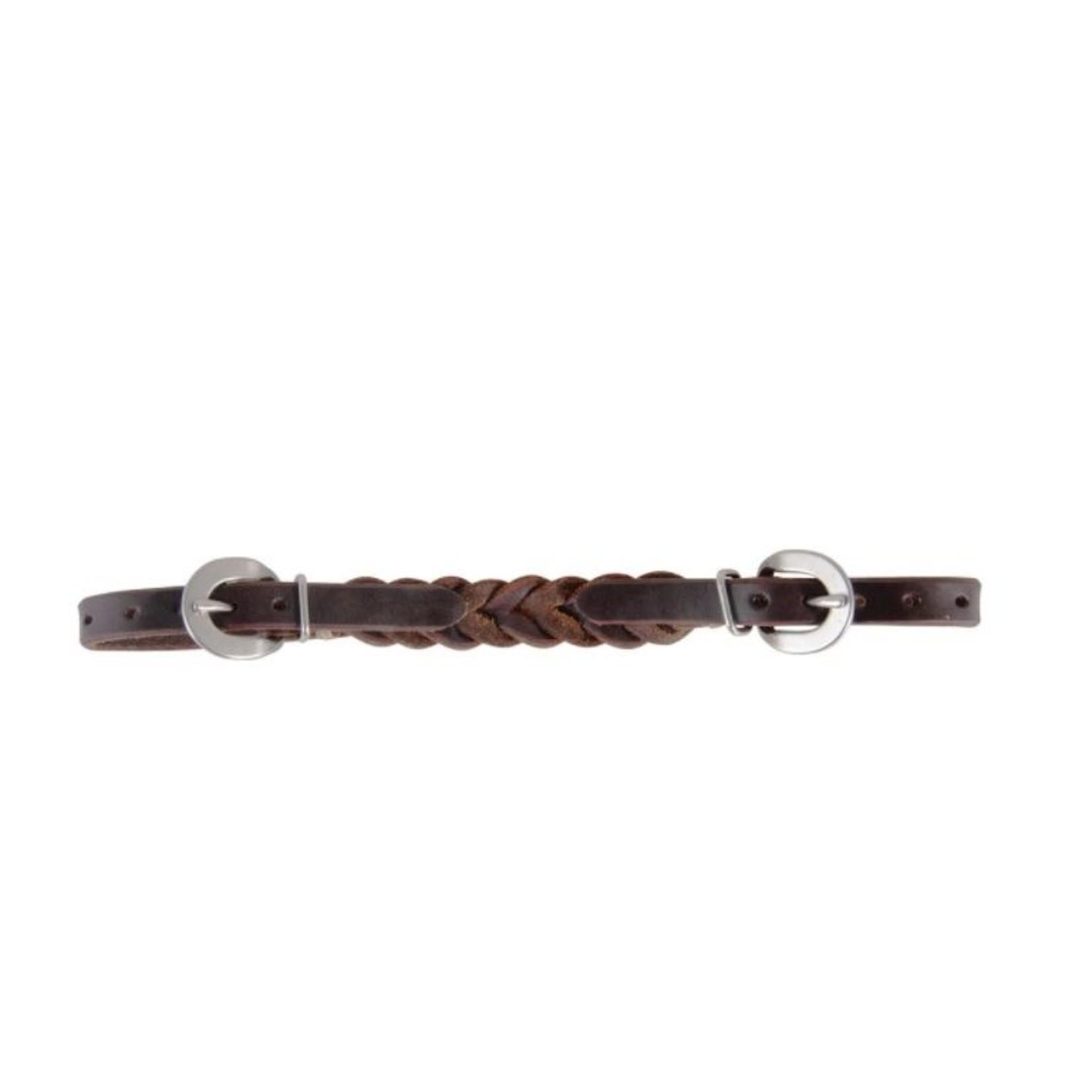 Western Oak Braided Curb Strap