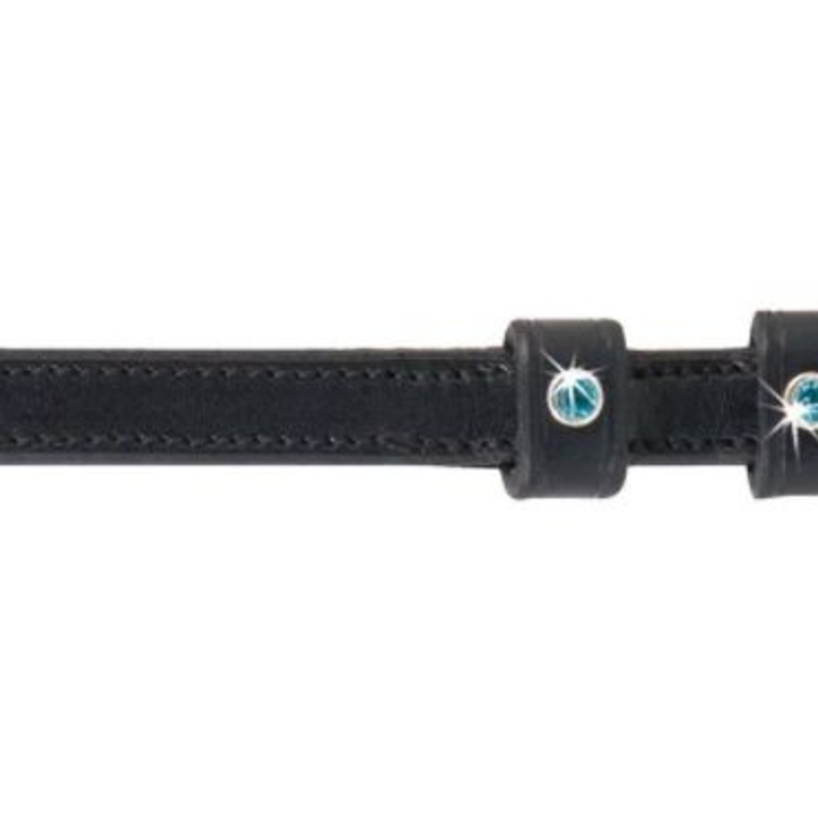 Pinnacle English Spur Straps - Turquoise Crystals