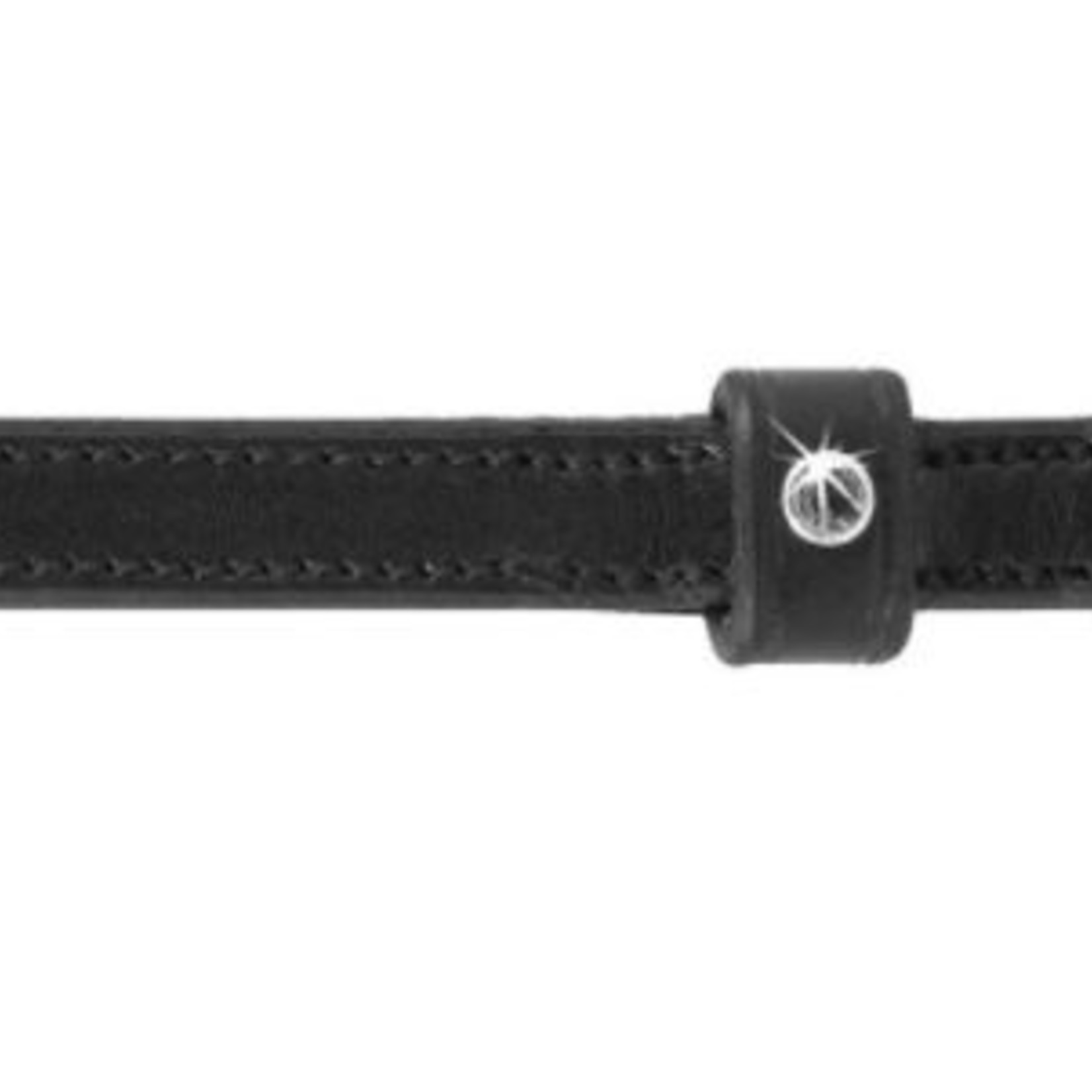Pinnacle English Spur Straps - Clear Crystals