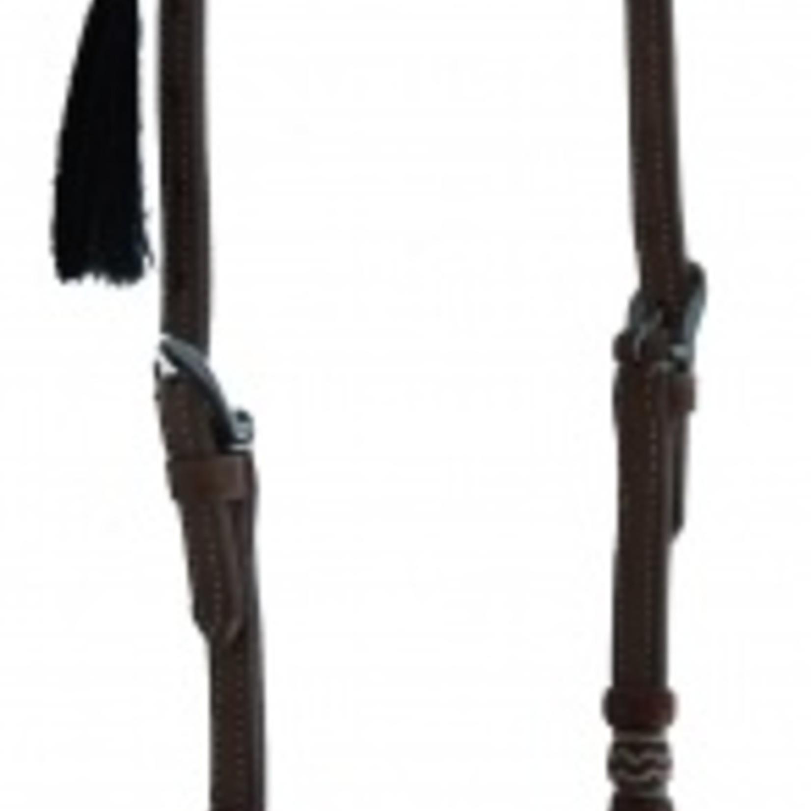 Slip Ear Headstall - Rawhide Knots/Horse Hair
