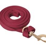 Flat Cushion Lead Rope - Burgundy