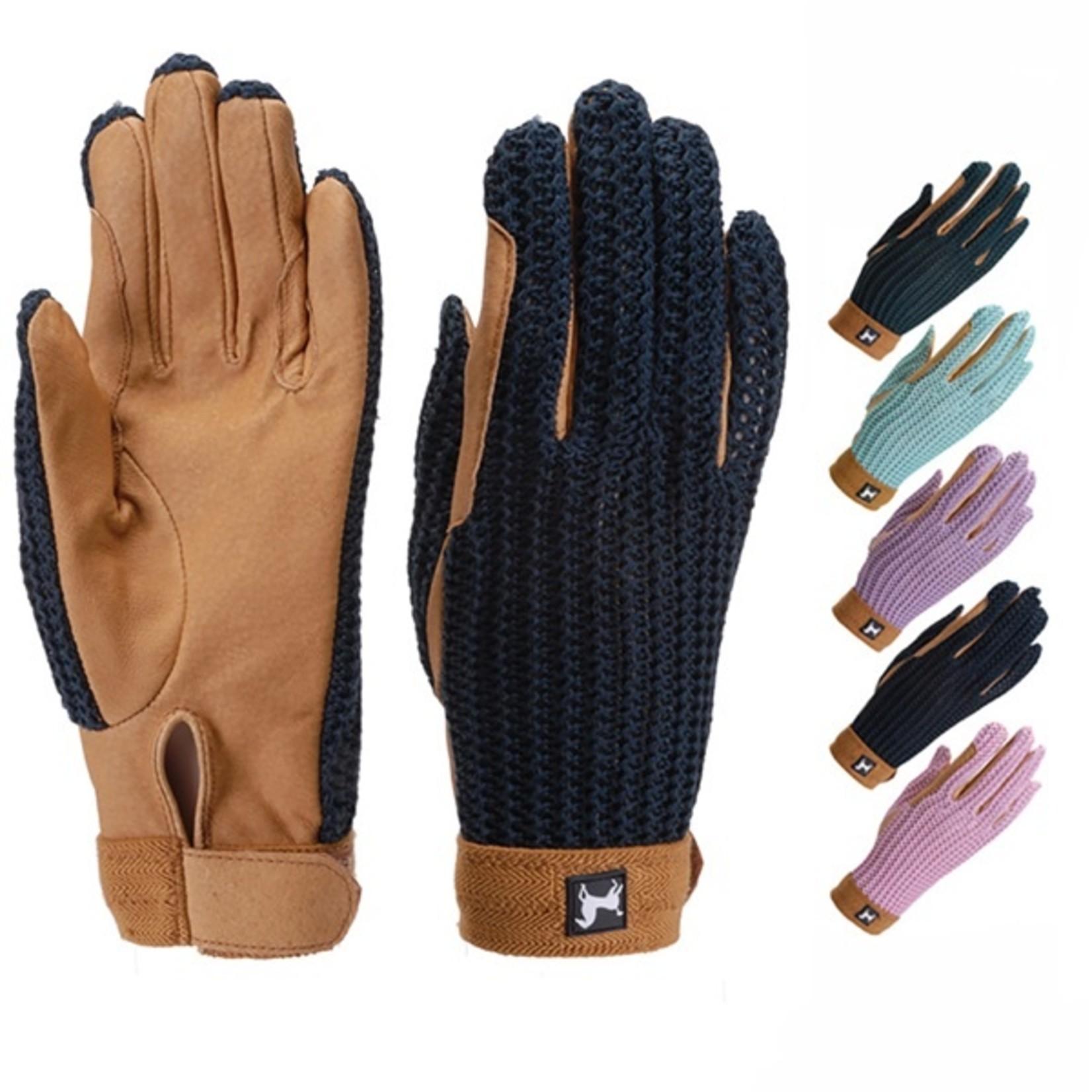 Crochet Glove - Grey