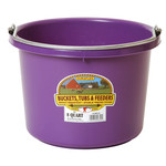 Plastic Bucket 8 qt Purple