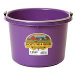 Plastic Bucket 8 qt Purple