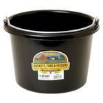 Plastic Bucket 8 qt Black
