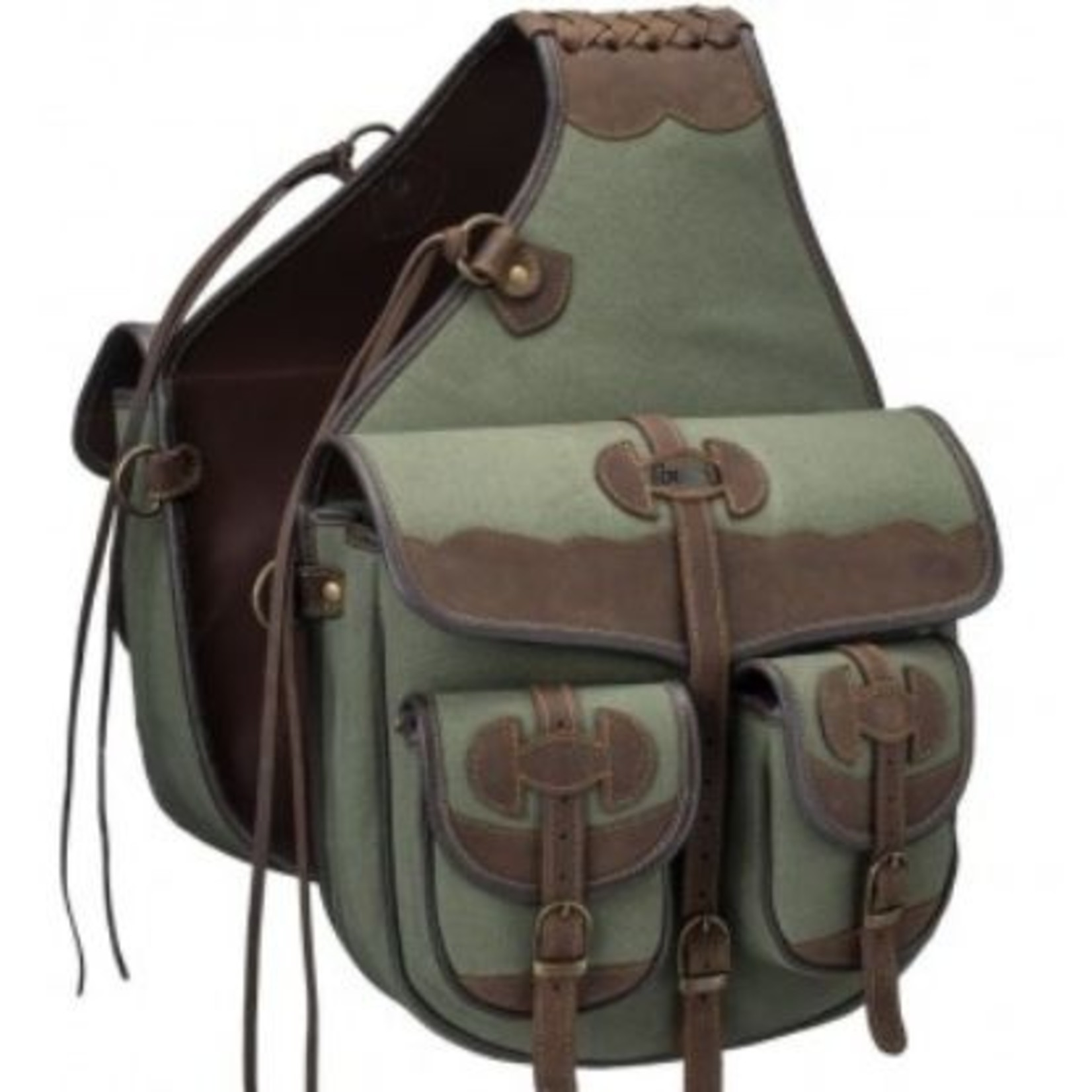 Tough-1 Canvas Trail Bag with Leather Accents