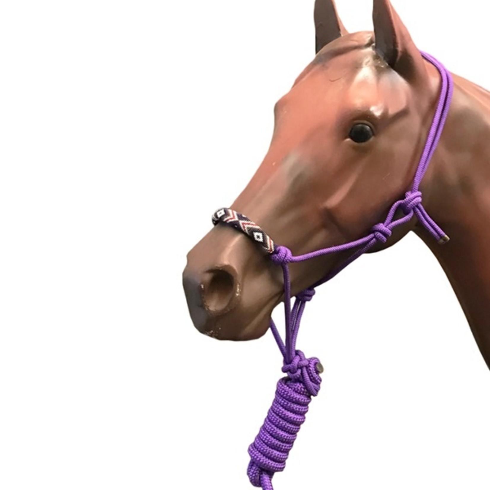 Beaded Rope Halter - Purple
