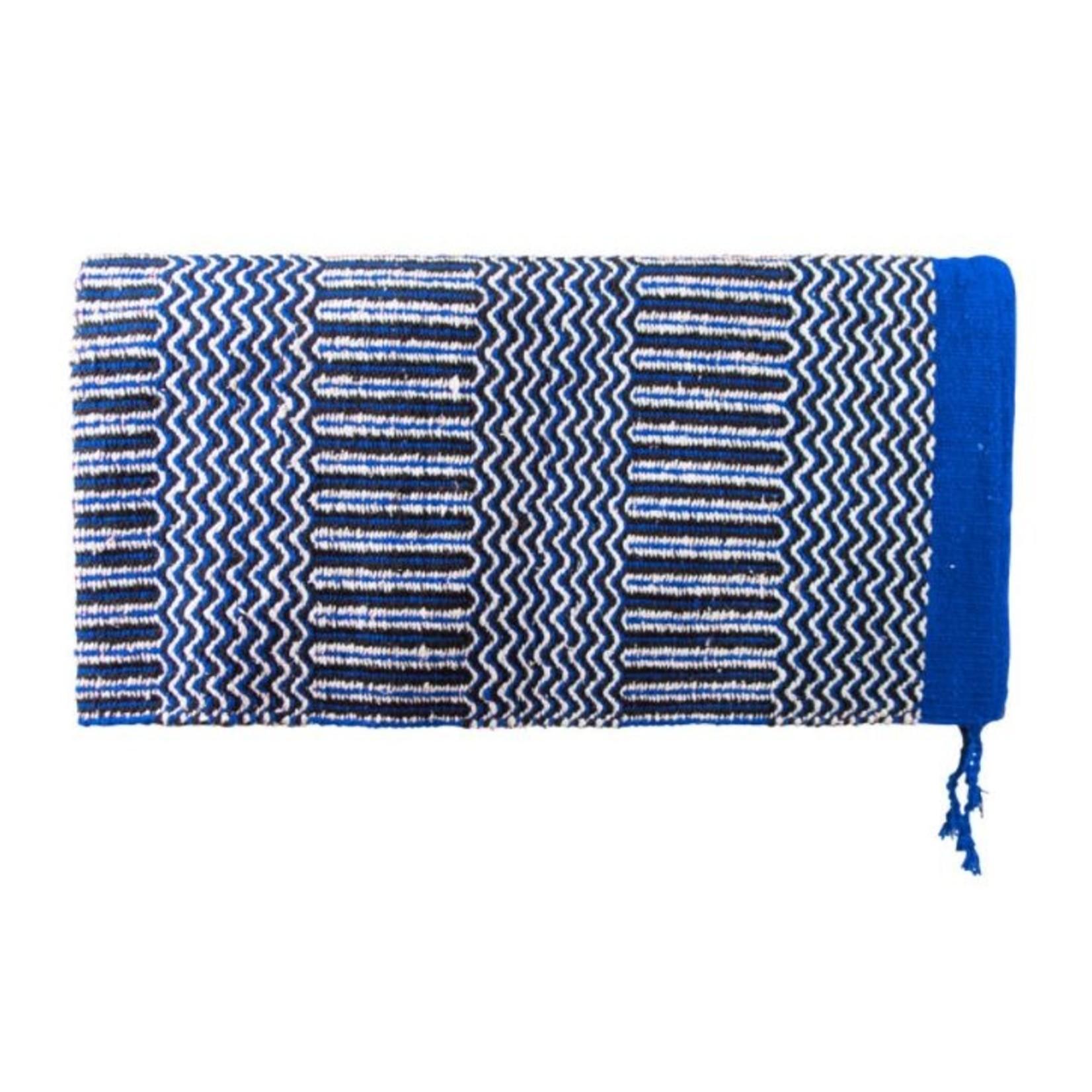 Blue Navajo Double Woven Saddle Blanket