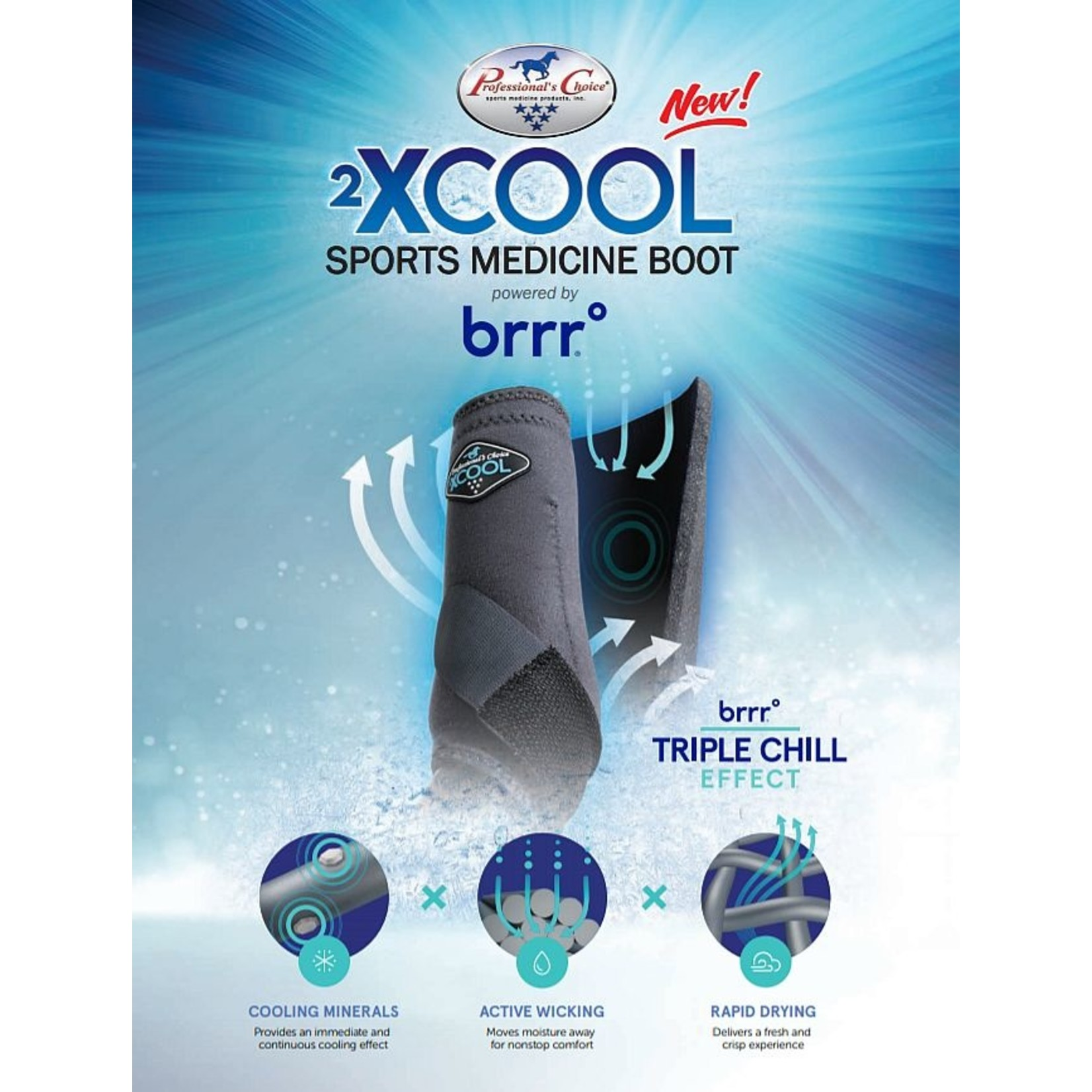 Professional's Choice 2XCool SMB Front Med/Blk