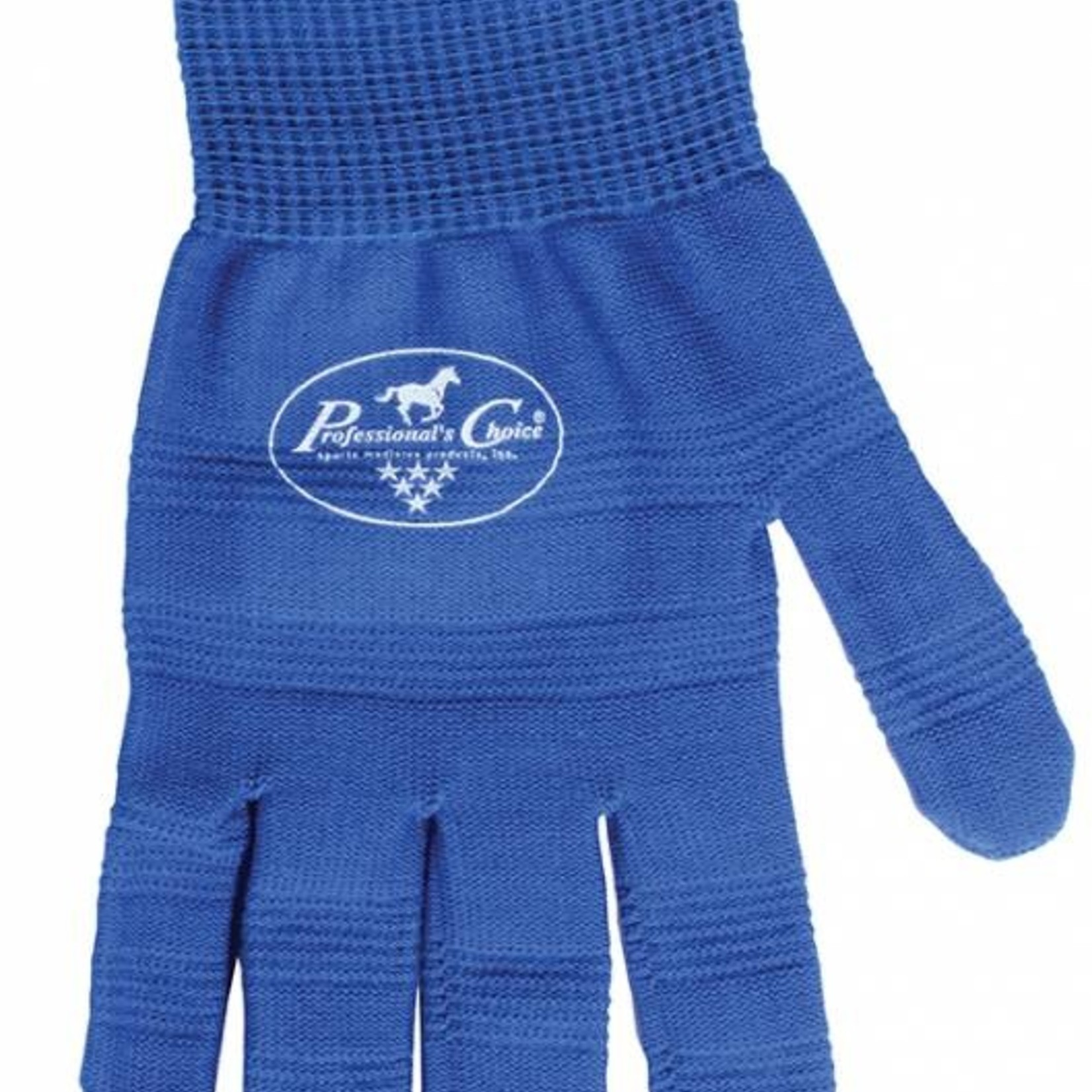 Professional's Choice Blue Roping Gloves Lrg