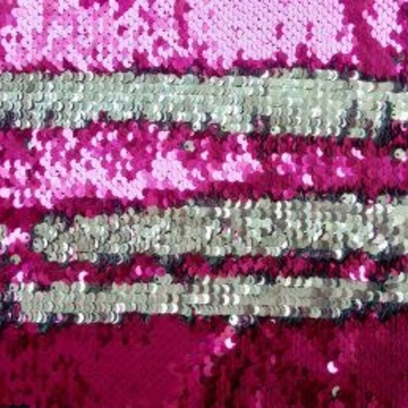 Pink and Silver Sequins Inlay Set