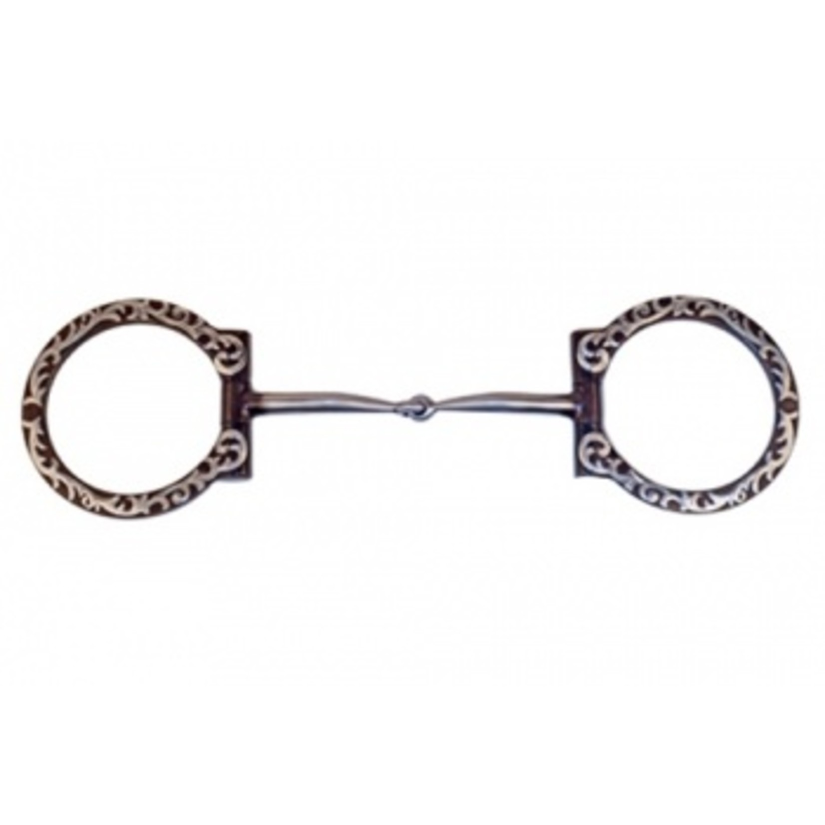 Floral Silver Mounted D-Ring Snaffle