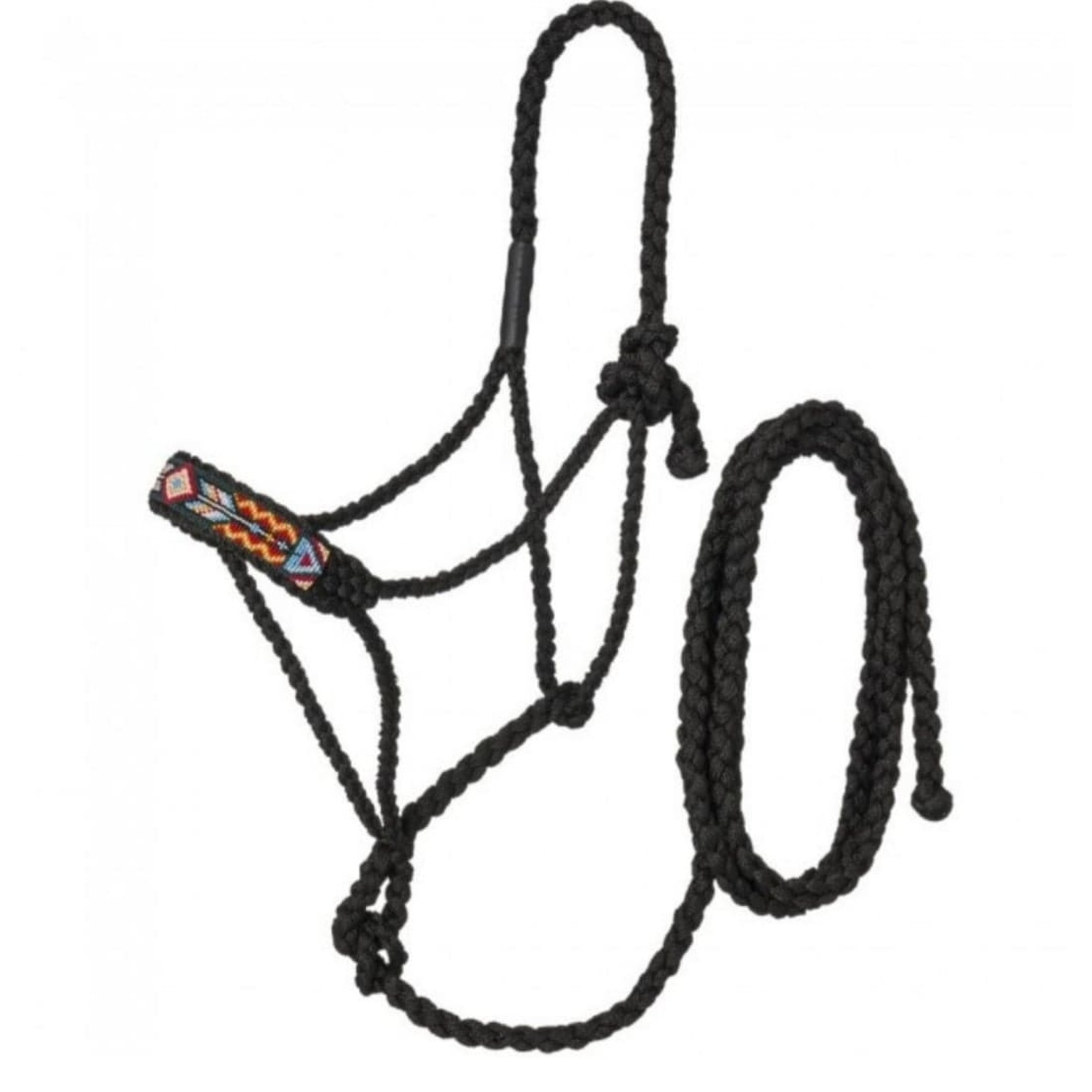 Black Beaded Mule Tape Halter
