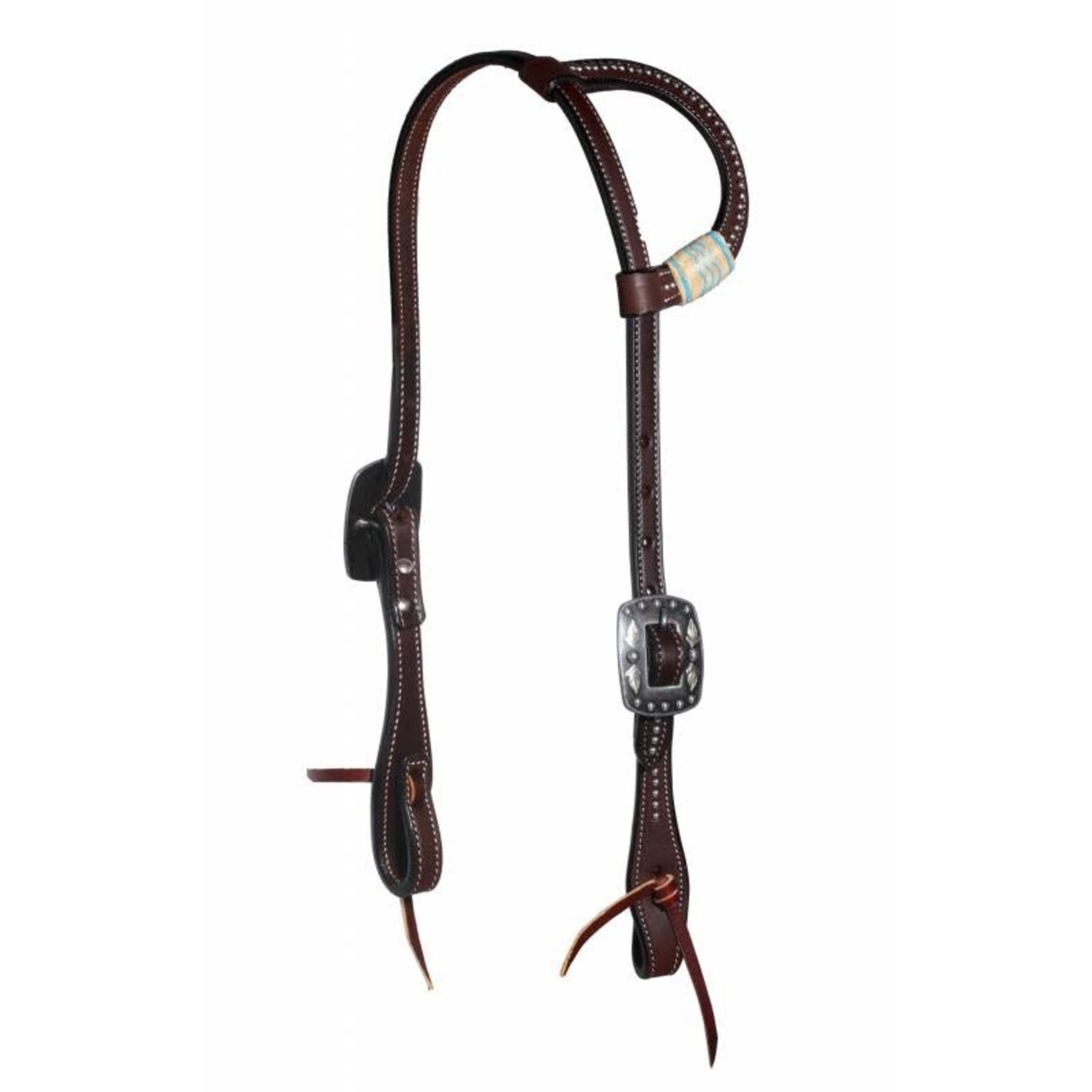 Professional's Choice BLACK RAWHIDE DOTTED ONE-EAR HEADSTALL