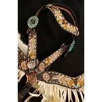 Painted Feather Set w/ Fringe
