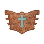 Flair Strip - Leather Cross