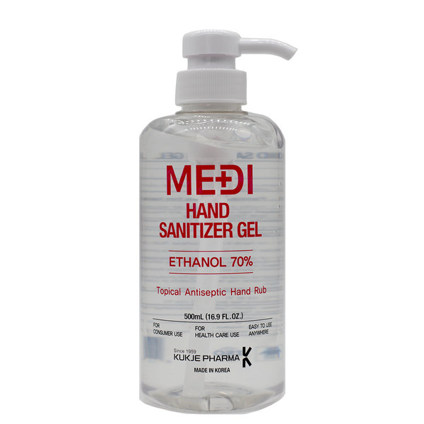 MEDI MEDI Hand Sanitizer Gel, 70% Ethanol, Antiseptic, 500 ml