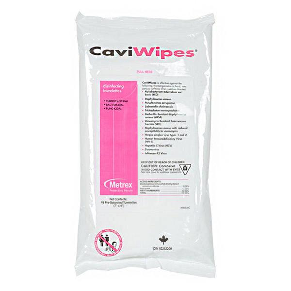 "CaviWipes CaviWipes 11-1224  in a Flat Pack (7"" x 9""), 45 wipes per pack"