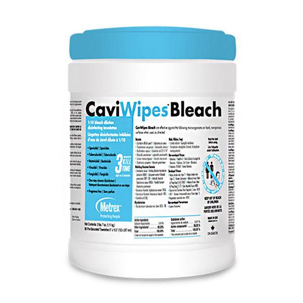 "CaviWipes CaviWipes Bleach (6"" x 10""), 90 wipes per canister"