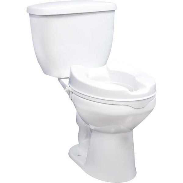 """Drive Medical 12062 2"""" raised toilet seat w/ sidelock locking clamps"""