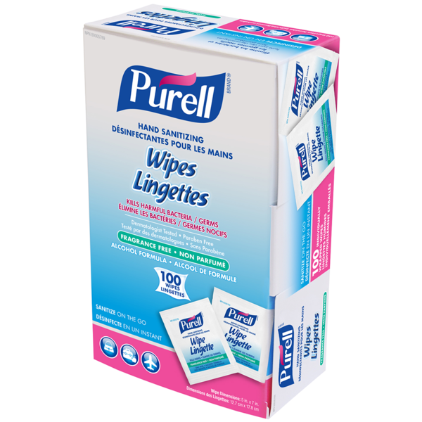 Purell Purell 9022-10-CAN00 Hand Sanitizing Wipes - 100/BX