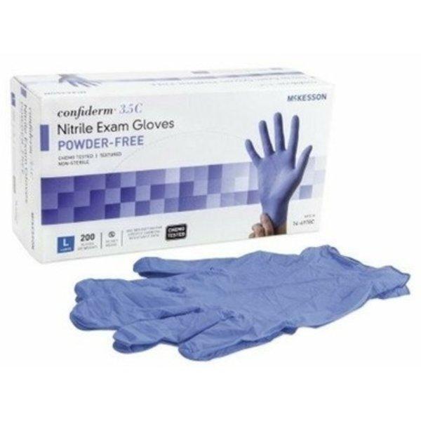 McKesson McKesson 14-6974C Confiderm 3.5C Nitrile Exam Gloves, Powder-Free, Small, 200/Box