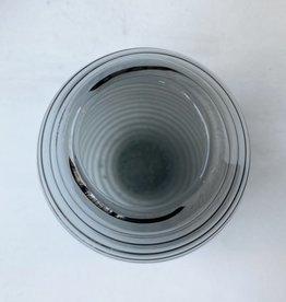 Glass vase swirl small