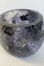 Sea glass votive lavender