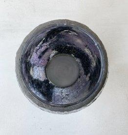 Sea glass vase lavender