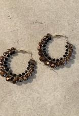 Saachi mod hoop earrings brown