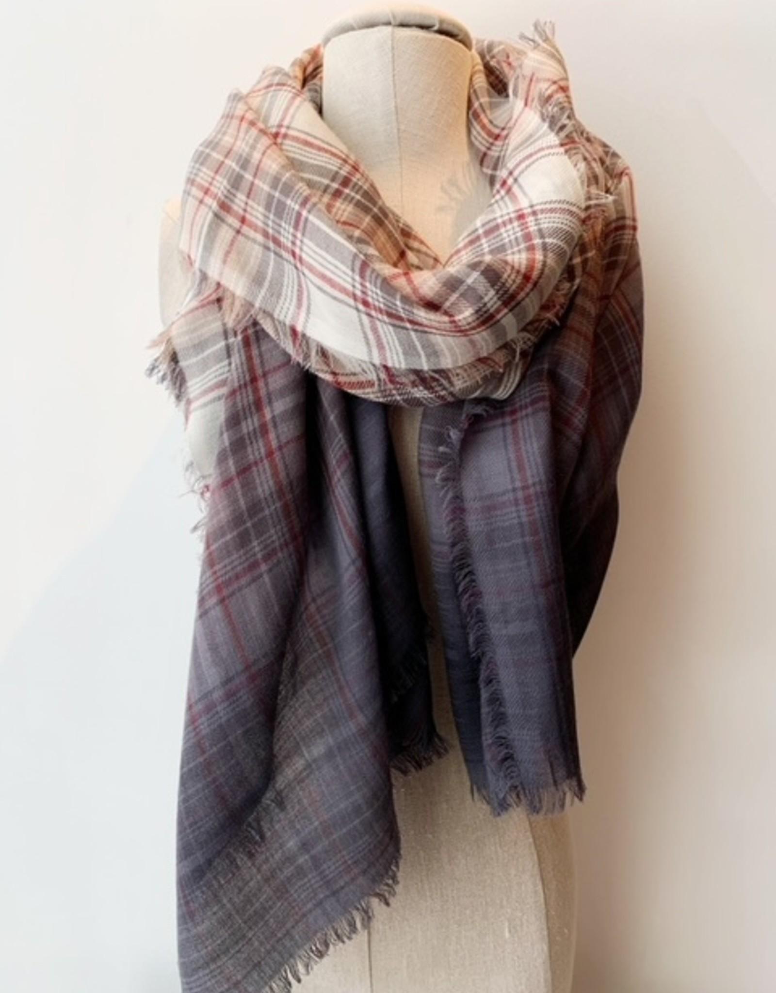 Saachi Saachi 119721 denim tone scarf