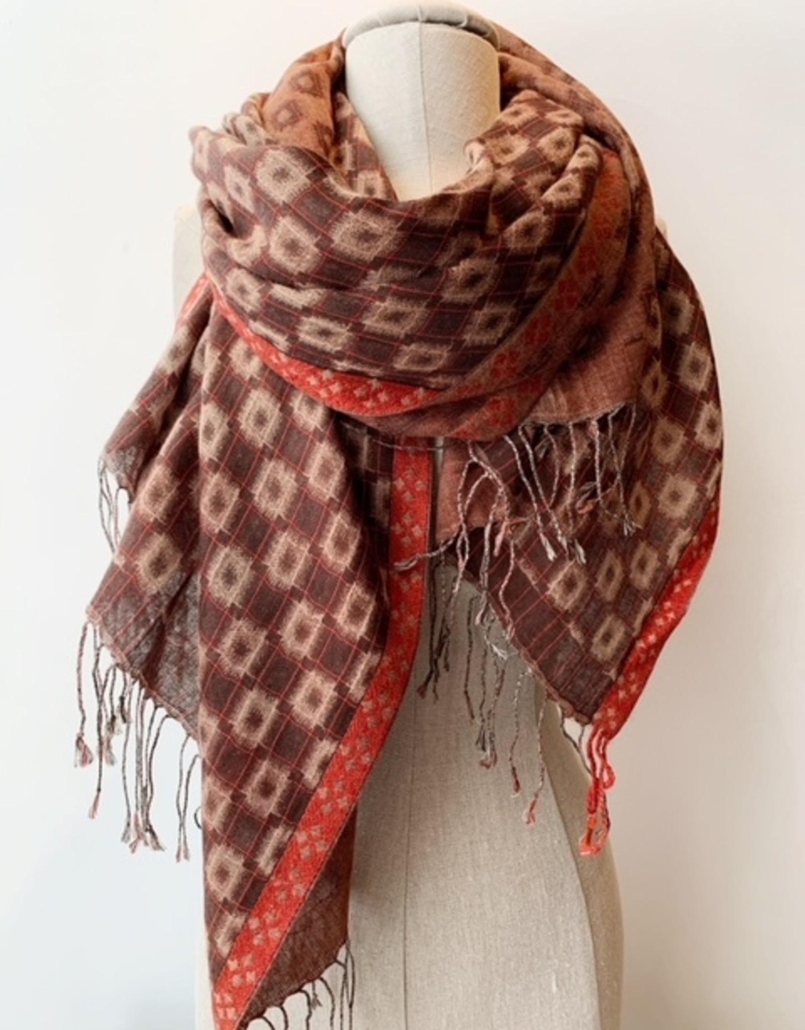 Saachi Saachi vibrant colored scarf