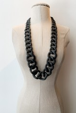 Pono Pono black matte resin necklace