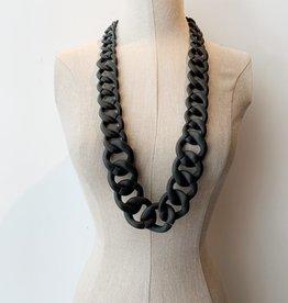 Pono Pono black matte resin necklace