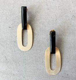 Saachi 18K gold plated earrings