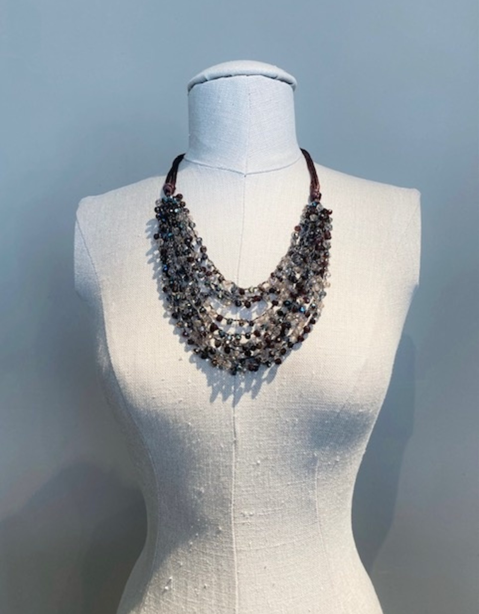 Sacchi crystal beaded necklace
