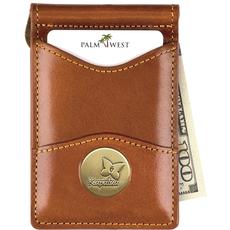 PALM WEST SALES KAPALUA LEATHER MONEY CLIP