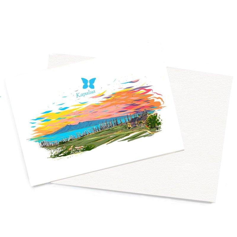 COULOIR KAPALUA  HANDMADE CARD