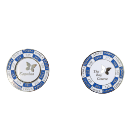 PRG DUO YARDAGE COIN - THE BAY COURSE more colors