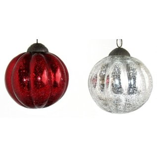 Glass Melon-Ball Ornaments