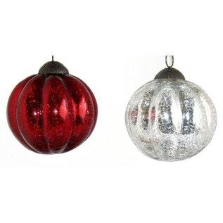 Glass Melon-Ball Ornaments